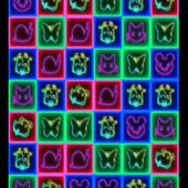 Cube neon pets match crush game free