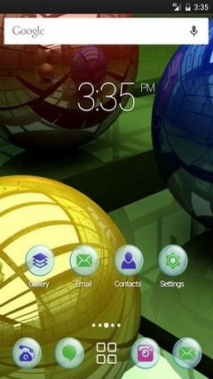 Balls three colored ADW Launcher Theme