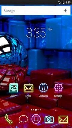 Ball cubes metal Apex Launcher Theme