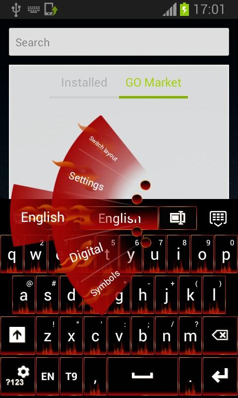 Keyboard Red Flame