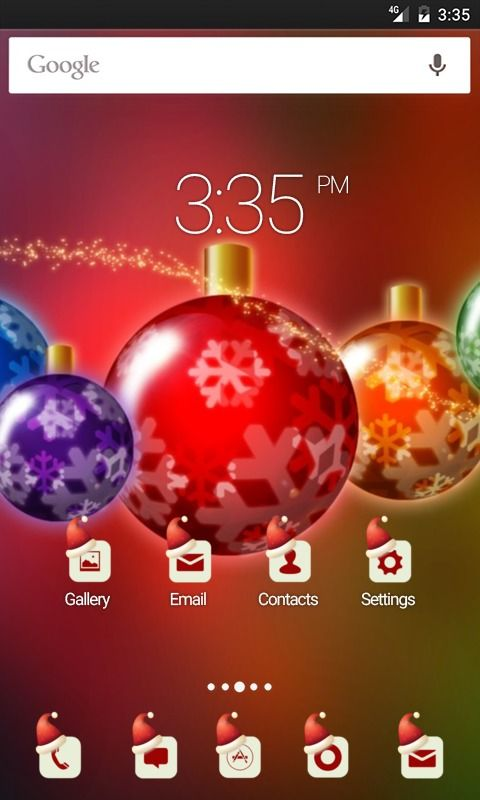 Merry colorful chirstmas Apex Launcher Theme