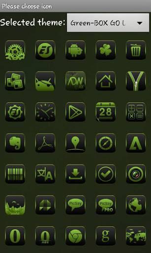 Green-BOX GO Launcher EX Theme