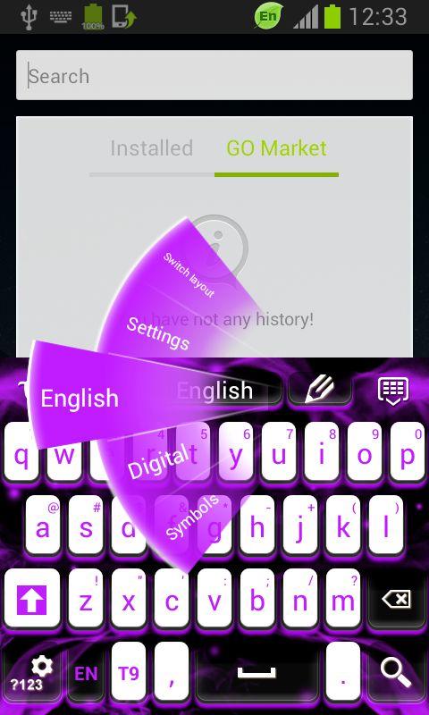 Purple Flames Keyboard