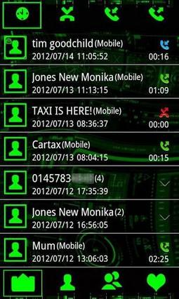 go contact .neon g tech theme