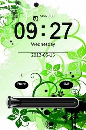 Green Flower Design Locker