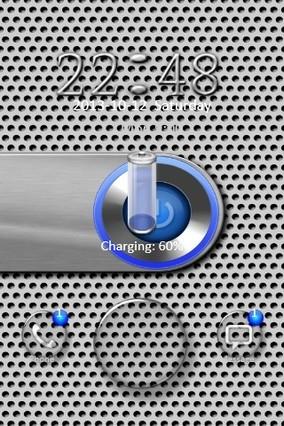 Metal Power Button Go Locker