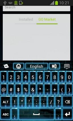 Blue Neon Flame Keyboard-release