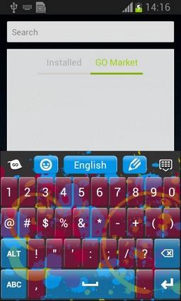 Splatters Keyboard-release