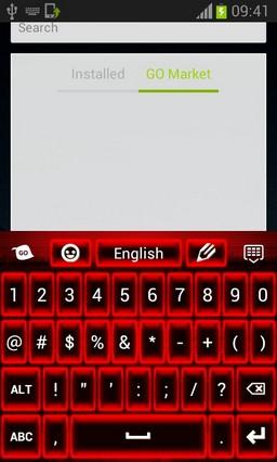 Keyboard Neon Red Theme-release