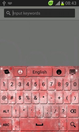 Pink Keyboard for Galaxy Note