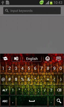 Abstract Mosaic Keyboard
