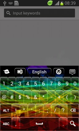 Free Abstract Color Keyboard