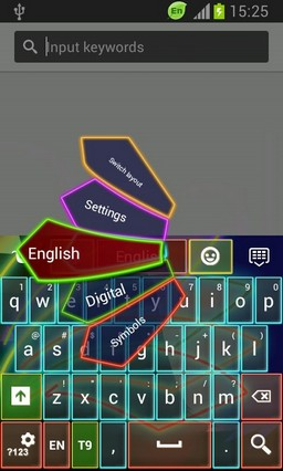 Neon Keyboard for Galaxy Grand