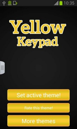 Yellow Keypad for Mobile