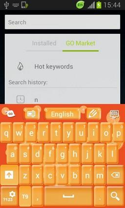 Keyboard Orange Skin