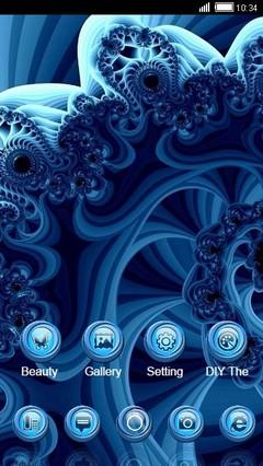 Blue Fractals CLauncher Theme