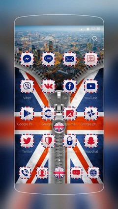 UK Flag Zip Theme