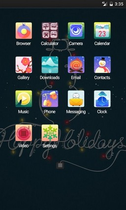Happy Holidays Multi Launcher Theme
