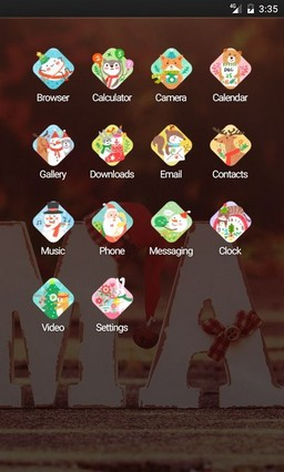 xmas 2016-HD Multi Launcher Theme