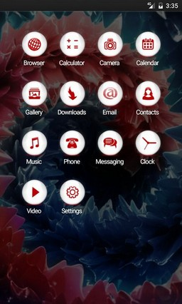 Deep rich colors abstract GO Launcher Theme