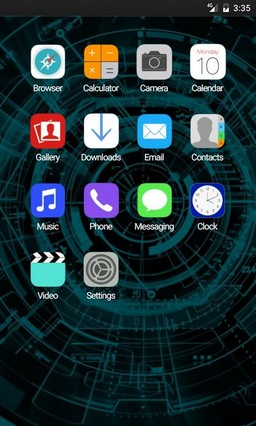 Abstract system ADW Launcher Theme