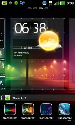 Transparent Theme Go Launcher 1.0