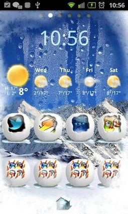Winter Snow Go Launcher Theme