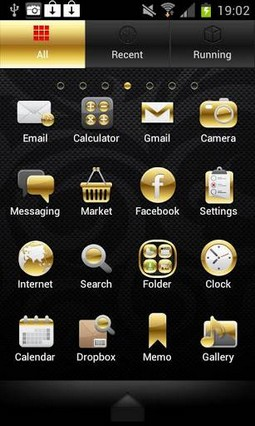 Gold Droid PRO GO Launcher EX Theme