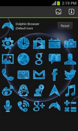 Future Phone Blue Theme Free