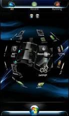 Windows 7 Blue Flame GO Launcher Theme