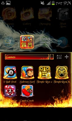 Smoke N Fire Dragon Go launcher theme