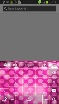 Pink Sparkle Keyboard