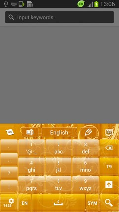 Yellow Flower Keyboard