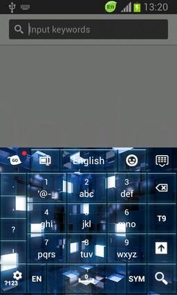 HD Blue Cubes Keyboard