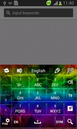 Abstract Colorful Keyboard