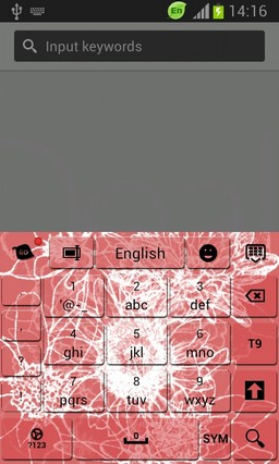 Free Abstract Flowers Keyboard