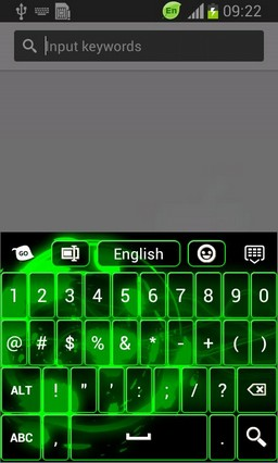 Neon Splatter Free Keyboard
