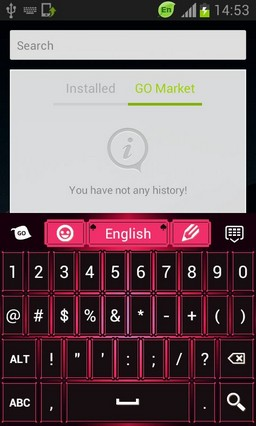 Pink Black Keyboard Theme