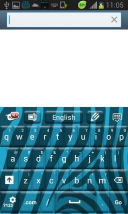 Zebra Blue Keyboard