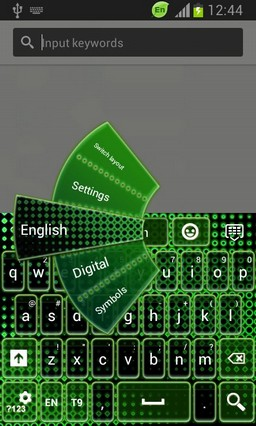 Green Neon Color Keyboard