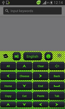 Color Keyboard Neon Green