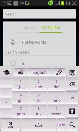 White and Purple Keyboard