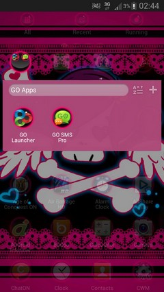GO Launcher EX Theme Emo Pink-1