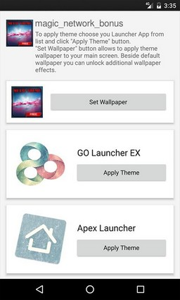 Magic Network Bonus Apex Launcher Theme