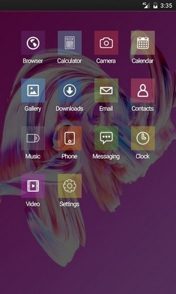 Paintwave pink HD GO Launcher Theme