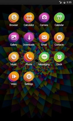 Colors abstract Nova Launcher Theme