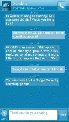 Grux GO SMS Theme 1.0