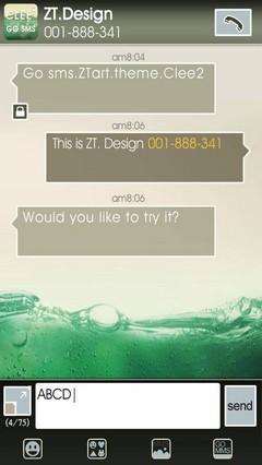 Clee2 GO SMS Theme 1.0