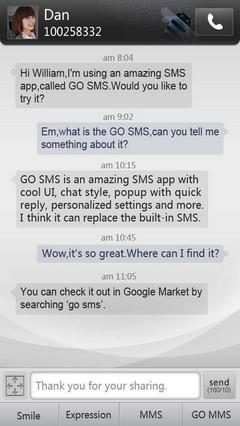 Simple Dark GO SMS Theme 1.0