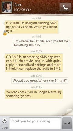 Simple Paper GO SMS Theme 1.0